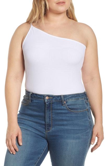 LEITH One-Shoulder Bodysuit