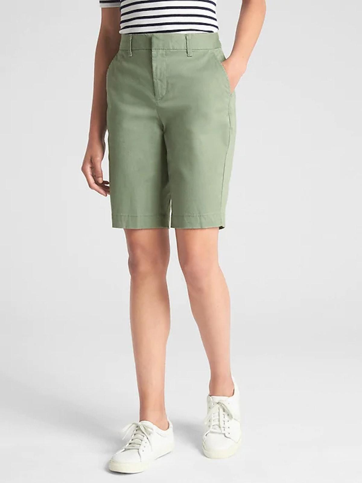 "10"" Bermuda Shorts In Twig"
