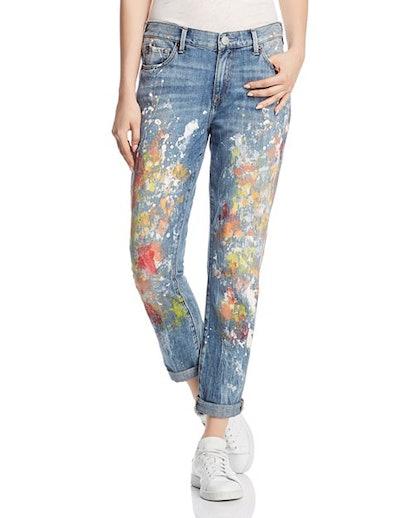 Cameron Boyfriend Jeans in Pop Art Print