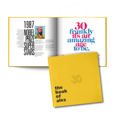 Personalized 30th Birthday Book