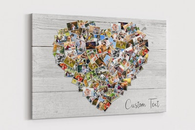100 Pictures Family Photo Heart Collage