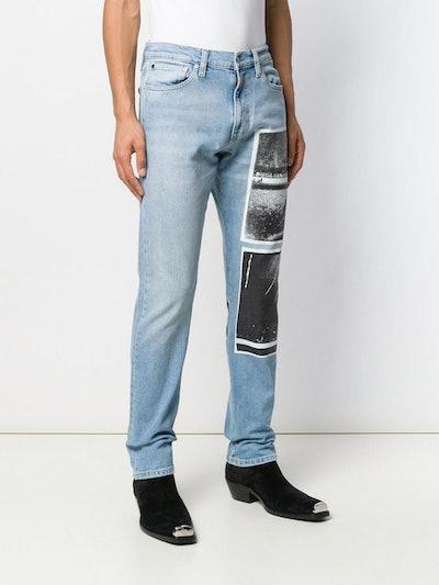 Andy Warhol Print Jeans