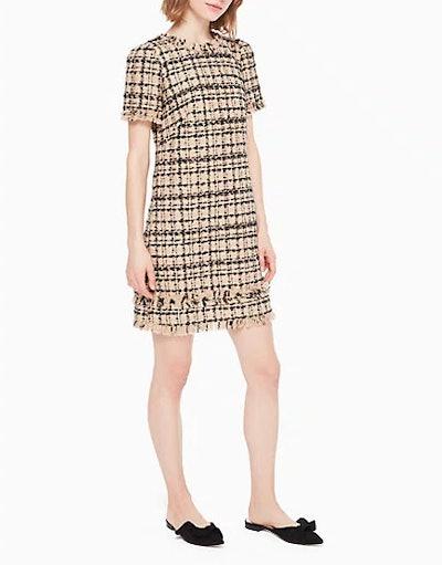 Bi-Color Tweed Dress
