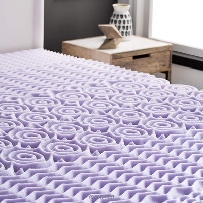 Lucid 5 Zone Lavender Memory Foam Mattress Topper