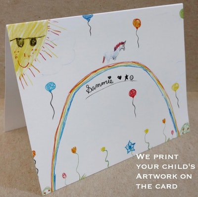Personalized Kids Stationery Children's Note Cards (20)