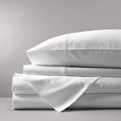 Boll & Branch Luxury Organic Cotton Solid White Sheet Set (King Size)