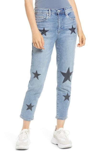 Star Patch Skinny Jeans