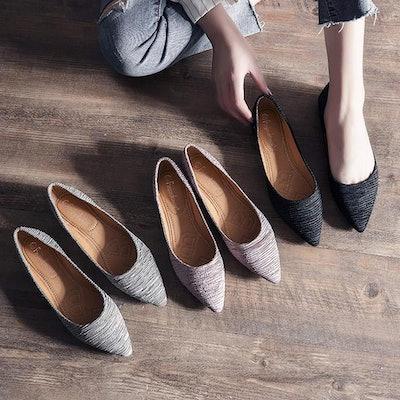 Meeshine Pointed Toe Flats