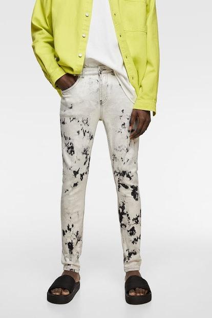Mens Tie-Die Skinny Jeans