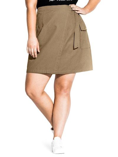 Cargo Pocket Cotton Miniskirt