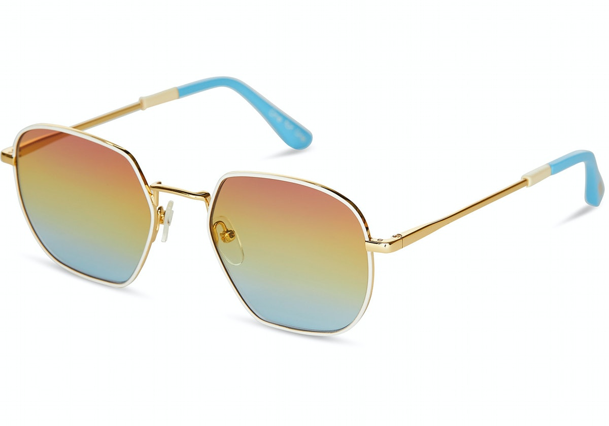 Sawyer Yellow Gold & White   Rainbow Gradient Lens