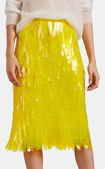 Yellow Pailette Skirt