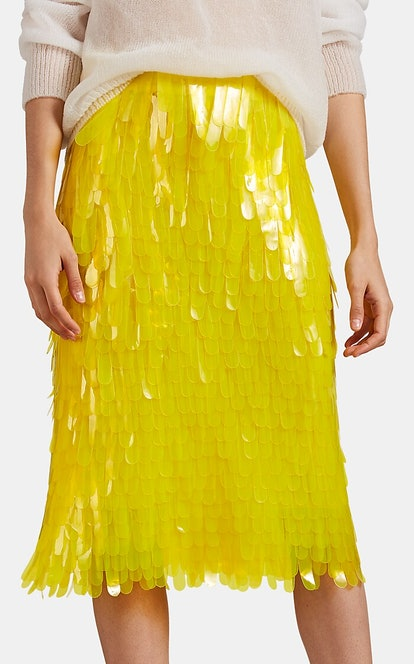 Yellow Pailette Skirt