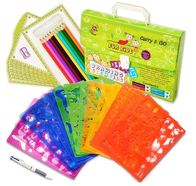 Drawing Stencils Set for Kids (54-Piece)