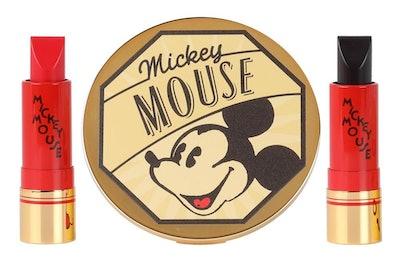 Bésame Cosmetics Mickey Mouse Lipstick & Mirror Set