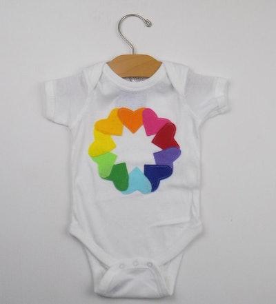 Rainbow Baby Heart Onesie