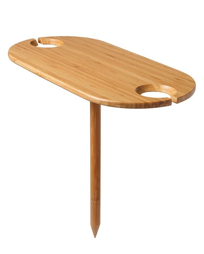 Tovolo Outdoor Wine Holder Bamboo Table