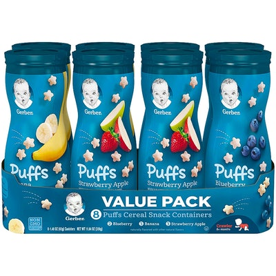 Gerber Graduates Puffs Cereal Snack Variety Pack