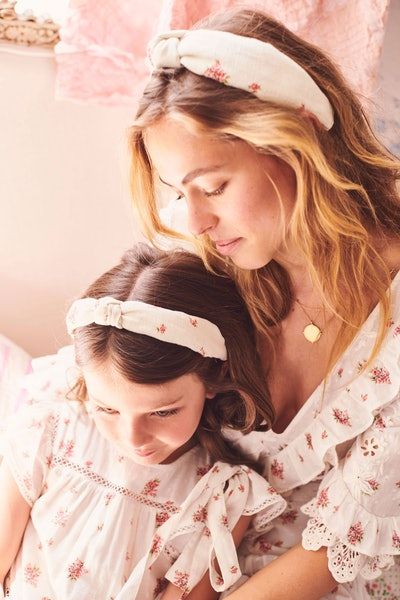 LoveShackFancy x Lele Sadoughi Knotted Headband - French Cream