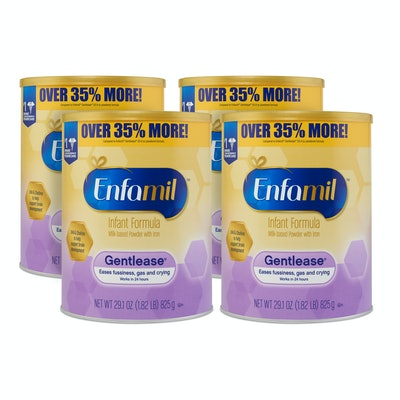 Enfamil Gentlease Baby Formula, Powder, 29.1 oz. Value Can, 4 Pack