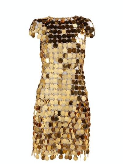 Paco Rabanne Chainmail sequin mini dress