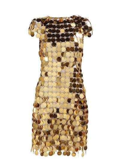 Paco Rabanne Chainmail sequin mini dress