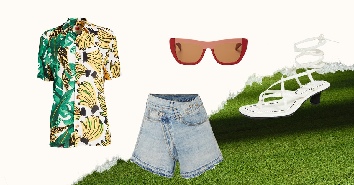 A Summer Barbecue Outfit That's Cool, Unexpected, & Perfect For Family
