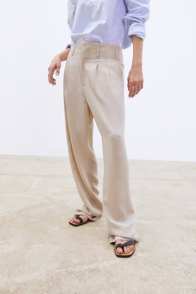 Wide Leg Pants With Darts