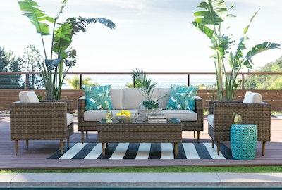 Outdoor Rug - Black & White Cabana Stripe