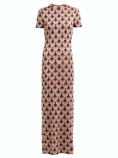 Paco Rabanne Geometric metallic-jacquard dress