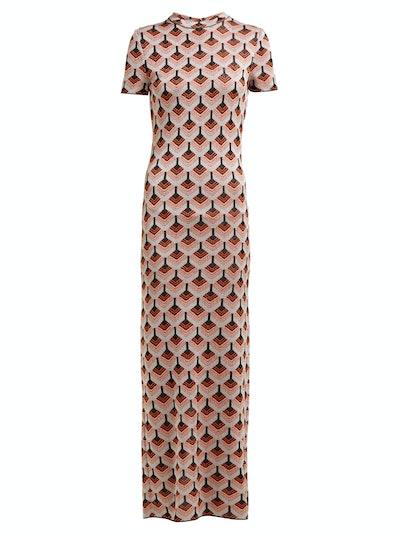 Paco Rabanne Geometric metallic-jacquard dress