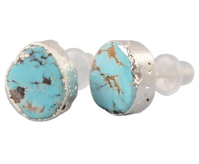 Zengori Sterling Silver Turquoise Post Stud Earrings