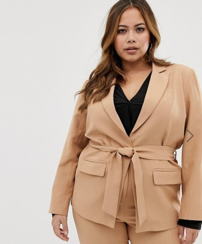 Blazer with Tie-Waist Two Piece