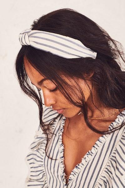 LoveShackFancy x Lele Sadoughi Knotted Headband - Cotton