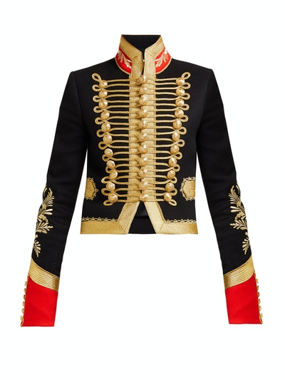 Paco Rabanne Cropped military jacket