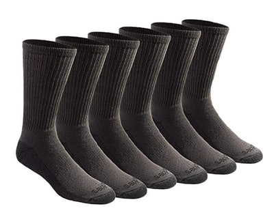 Dickies Men's Multi-Pack Dri-Tech Moisture Control Crew Socks (6-Pack)