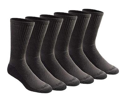 Dickies Men's Multi-Pack Dri-Tech Moisture Control Crew Socks (6-Pack)