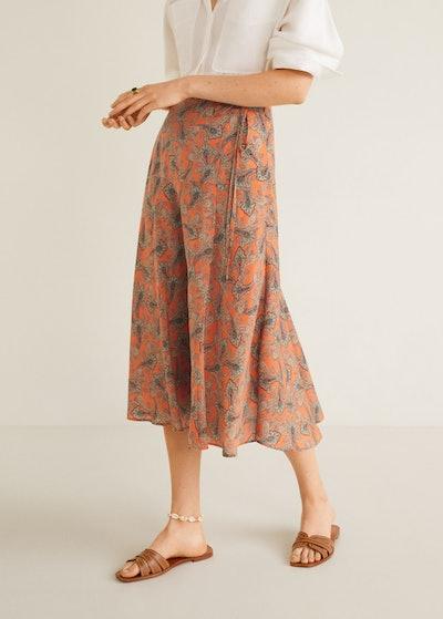 Paisley Patterned Midi Skirt