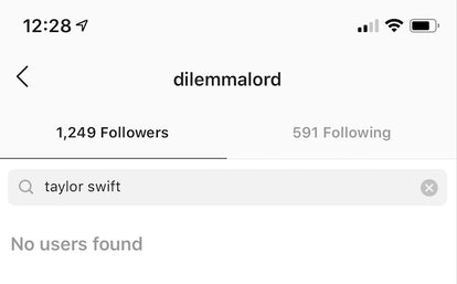"""If you know the person's Instagram username, you can see whether they're following you by searching for it under your """"Followers"""" section."""