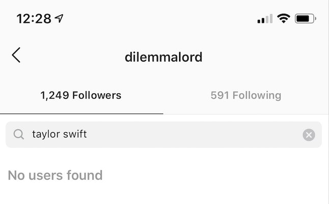 "If you know the person's Instagram username, you can see whether they're following you by searching for it under your ""Followers"" section."