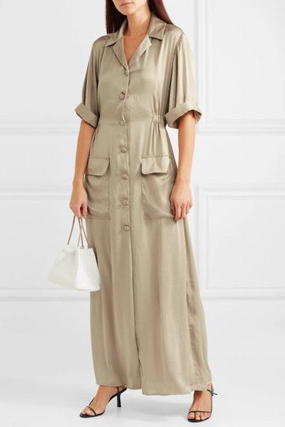 Alexis Charmeuse Shirt Dress