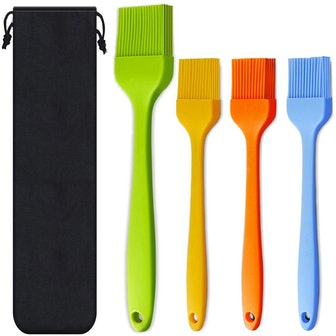 Consevisen Silicone Heat Resistant Pastry Brushes (4-Pack)