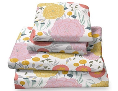 Where The Polka Dots Roam Light Floral Sheet Set