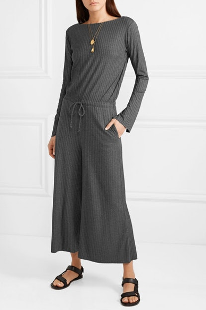 Louise Ribbed Stretch-Jersey Jumpsuit