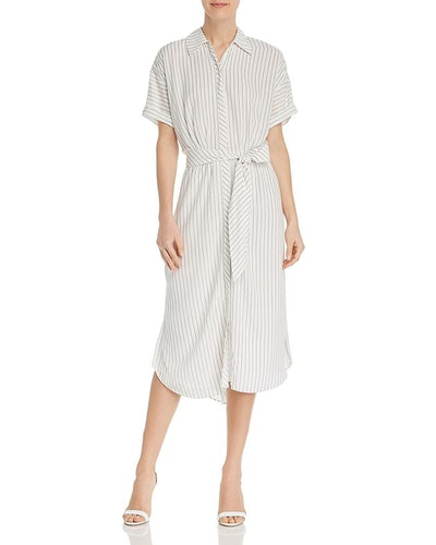 Chellie Pinstriped Shirt Dress