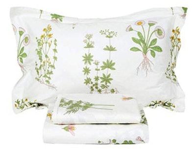FADFAY Shabby Green Floral Sheet Set