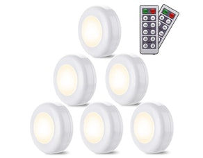 Elfeland LED Closet Lights With Remote (6-Pack)