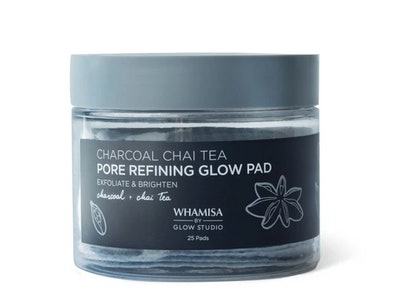 Whamisa by Glow Studio Charcoal Chai Tea Pore Refining Glow Pad - 25ct