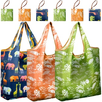 Reger Foldable Shopping Grocery Bags (6-Pack)