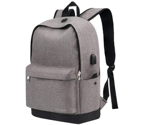 Vancropak Water-Resistant Backpack With USB Charging Port